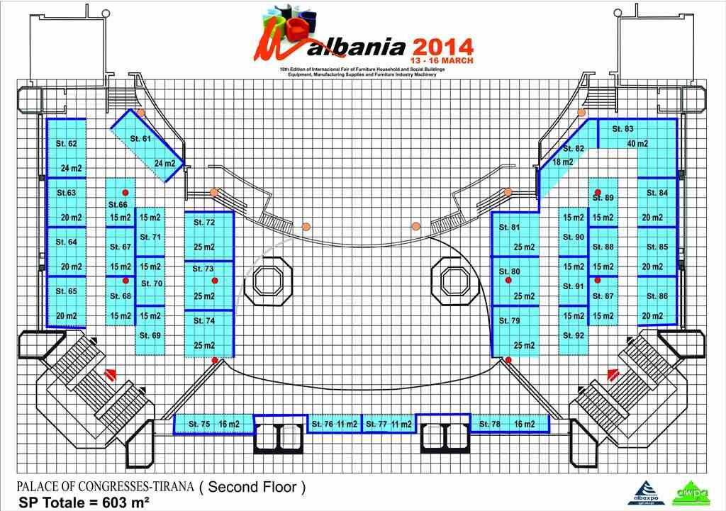Planimetria Ekspozites Kati II 0 Panairi i Mobilerise Shqiperia 2014, 13 16 Mars