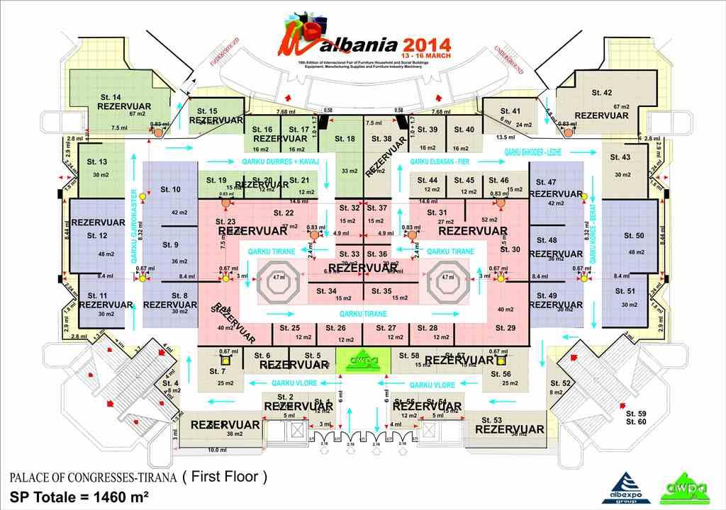 Planimetria Ekspozites Kati I 0 Panairi i Mobilerise Shqiperia 2014, 13 16 Mars